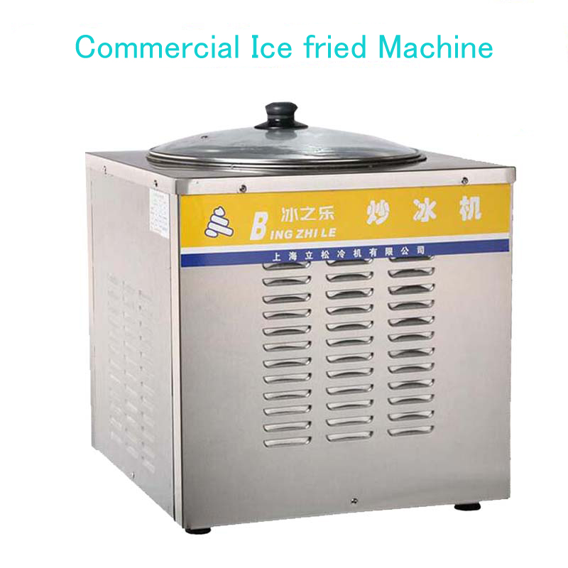 Roll Ice Cream Maker Commercial Ice fried Machine Single round pan Fried yogurt ,drink,ice cream CB-801A chinese single round pan rolled ice cream machine fried ice cream roll machine with 6 barrels