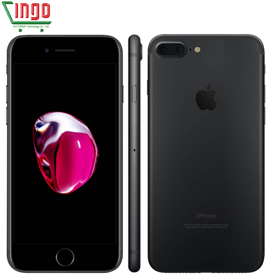 Apple iPhone 7 Plus 3 GB RAM 32/128 GB/256 GB IOS 10 Cellulaire Téléphone LTE 12.0MP caméra Apple Quad-Core D'empreintes Digitales 12MP 2910mA