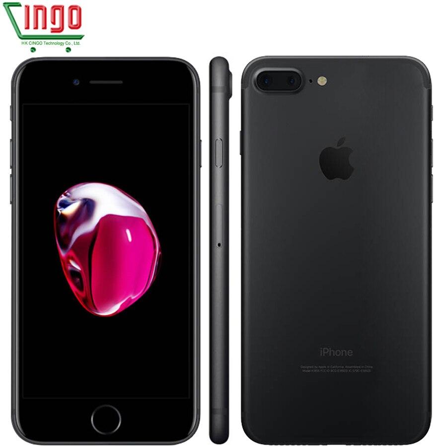 Apple iPhone 7 Plus 3 GB RAM 32/128 GB/256GB IOS teléfono celular LTE 12.0MP Cámara Apple Quad- core huella dactilar 12MP 2910mA