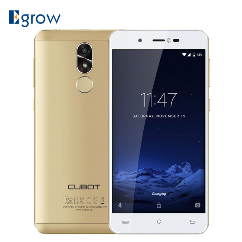CUBOT R9 Fingerprint ID Android 7.0 MTK6580 Quad Core 1,3 ghz Smartphone 5,0
