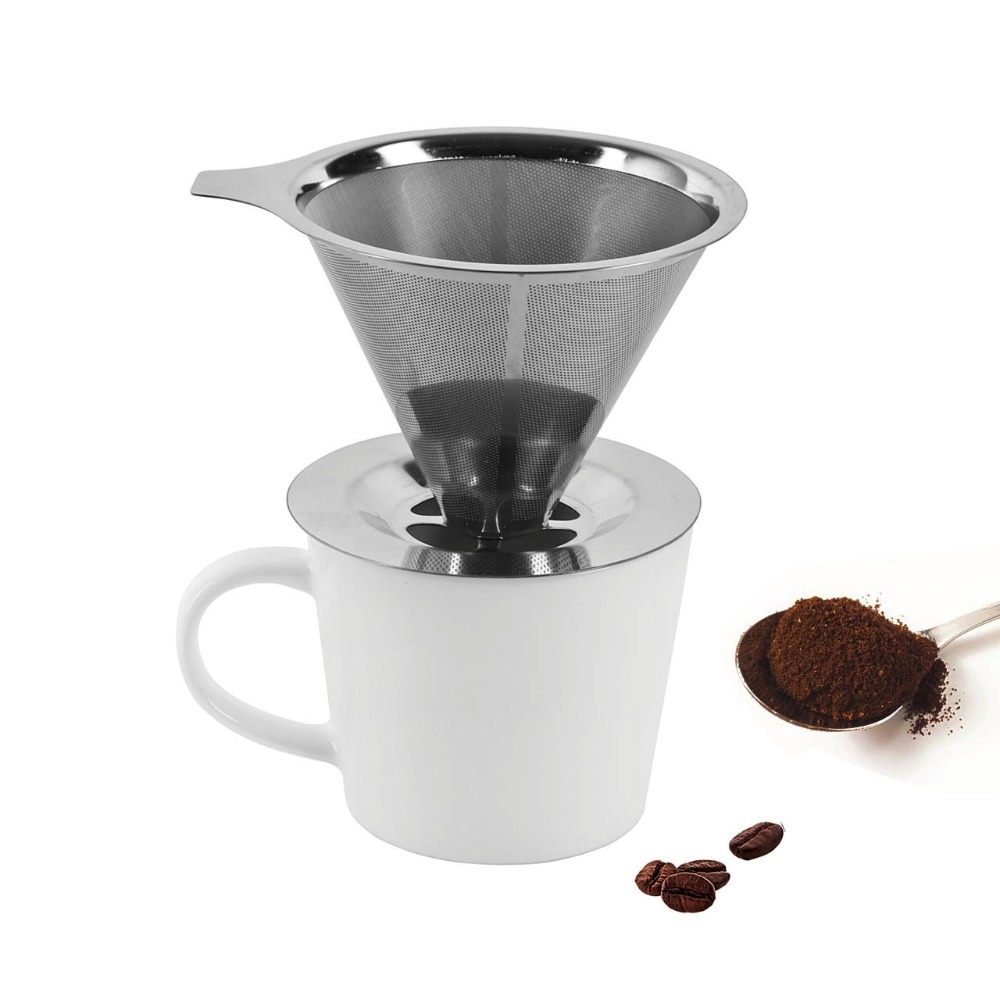 ?Stainless Steel Coffee ? Filter Filter Coffee Dripper Pour Over Coffee ? Maker Maker Drip ...
