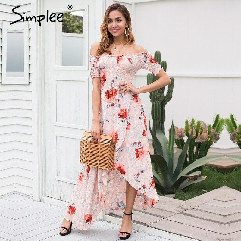 Simplee Off shoulder Summer Dress