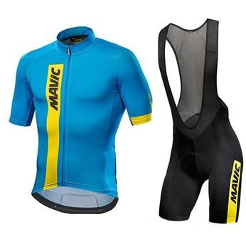 Mavic 2017 Radtrikot Sommer Team Kurzarm Radfahren Set Bike Bekleidung Ropa Ciclismo Radfahren Kleidung Sport Anzug