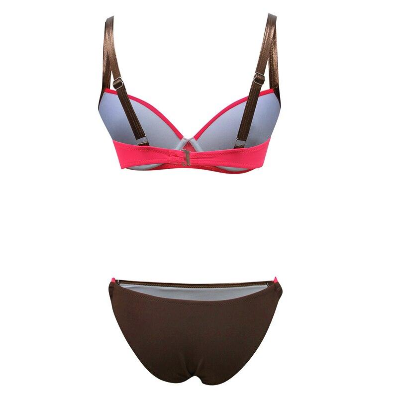 Chisalis New Sexy Swimsuit Women Bikini 2019 Solid Push Up Swimwear Women Brazilian Bikini Set Beach Bathing Suit biquini XXL-4