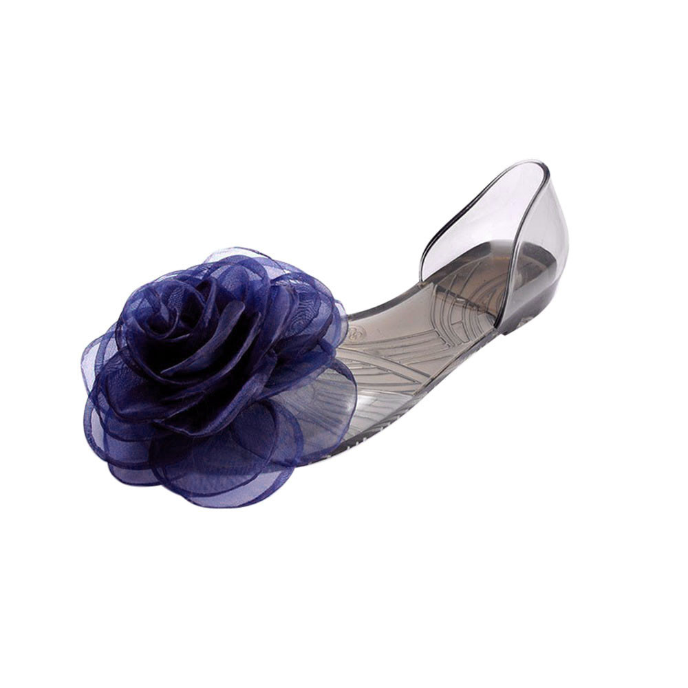 80ed8e8630d2c Fashion Rose Flowers Lady Jelly Shoes Women Sandals Flat Summer ...