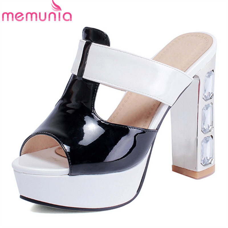 MEMUNIA 2019 new arrival women <font><b>sandals</b></font> open toe summer shoes <font><b>high</b></font> <font><b>heels</b></font> <font><b>platform</b></font> <font><b>sandals</b></font> <font><b>sexy</b></font> party prom shoes female image