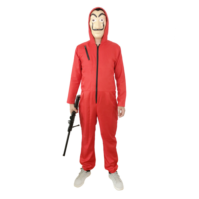 Salvador Dail Costume Movie Cosplay Money Heist The House of Paper La Casa De Papel Cosplay Halloween Party Costumes Face Mask
