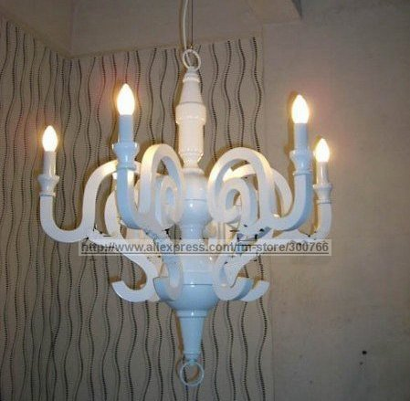 Italy White Faux Moooi Paper Chandelier Light Modern Free Shipping