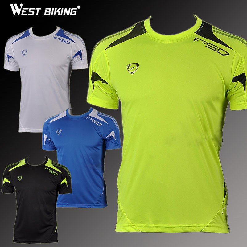 West Biking Brand Mens Bike Shirts Slim Fit Workout Shirts Male T-shirt Men Quick Dry Shirt Running Cycling Short Sleeve Jersey image
