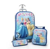 3D Kid Trolley bags Travel Rolling Suitcase for Kids Children School wheeled Backpack Kid's school Bags with wheels