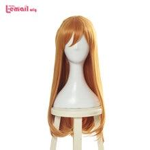 L email wig EVA Asuka Langley Soryu Cosplay Wigs Long Orange Wig Halloween Heat Resistant Synthetic Hair