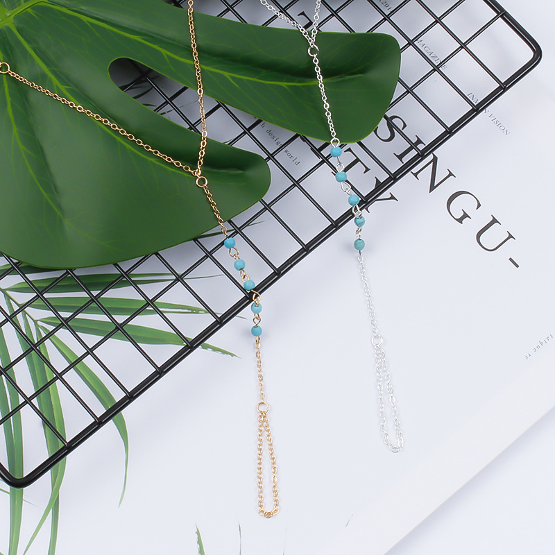 Simple Beads Chain Charm Finger Bracelets Bohemian Adjustable Handmade String Gold Silver Color Bracelets for Women in Charm Bracelets from Jewelry Accessories