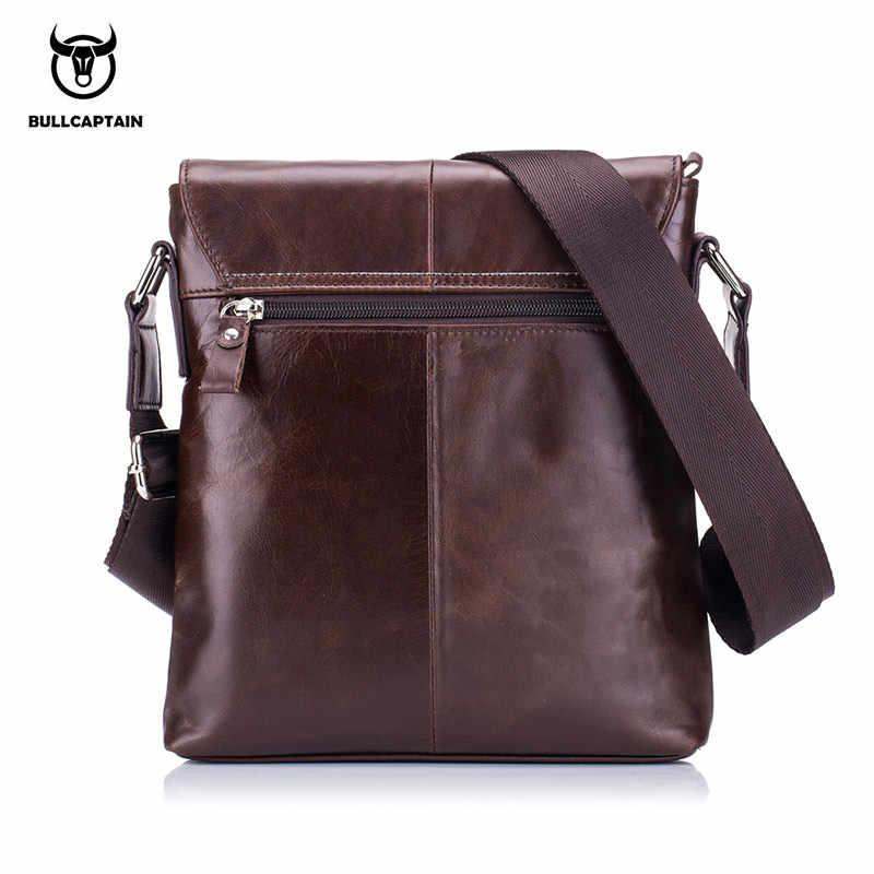 11d132d951f4 ... BULLCAPTAIN 2018 мужской портфель сумка из натуральной кожи мужская  сумка через плечо Маленькие деловые сумки мужские ...