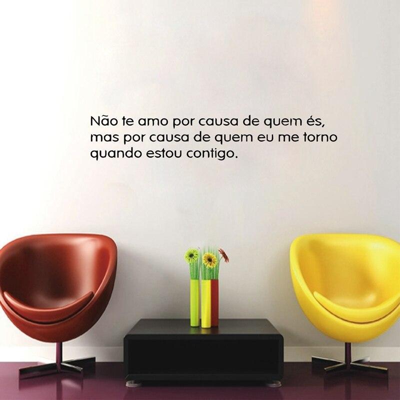Autocollant Portugais Amor Wall Art Vinyle Chambre Portugaise