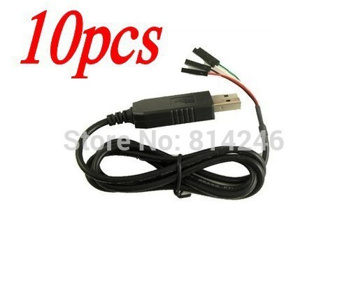 Free shipping,10pcs New USB to UART TTL Cable module PL2303 Converter