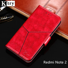Xiaomi Redmi Note 2 Case K'try Luxury Pu leather Wallet Case Soft Silicone Flip Cover For Xiaomi Redmi Note 2 5.5inch Fundas