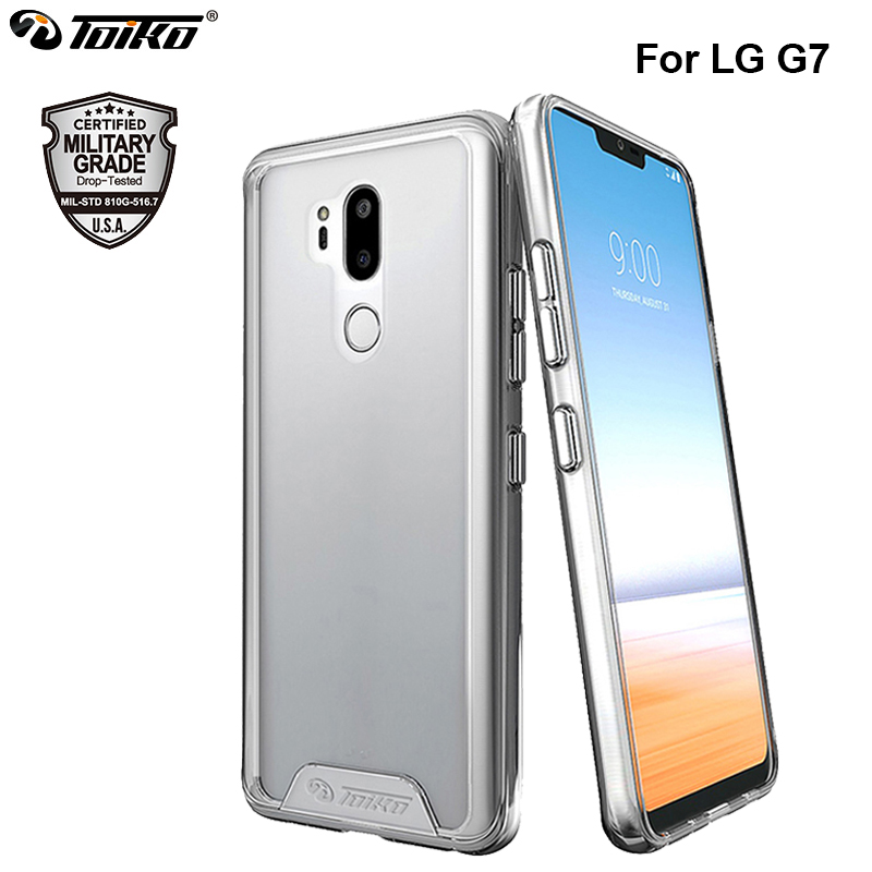 Chiron Soft TPU Hard PC Armor Protective Case For LG G7 Thinq Transparent Shockproof Shell Hybrid Mobile Phone Back Cover