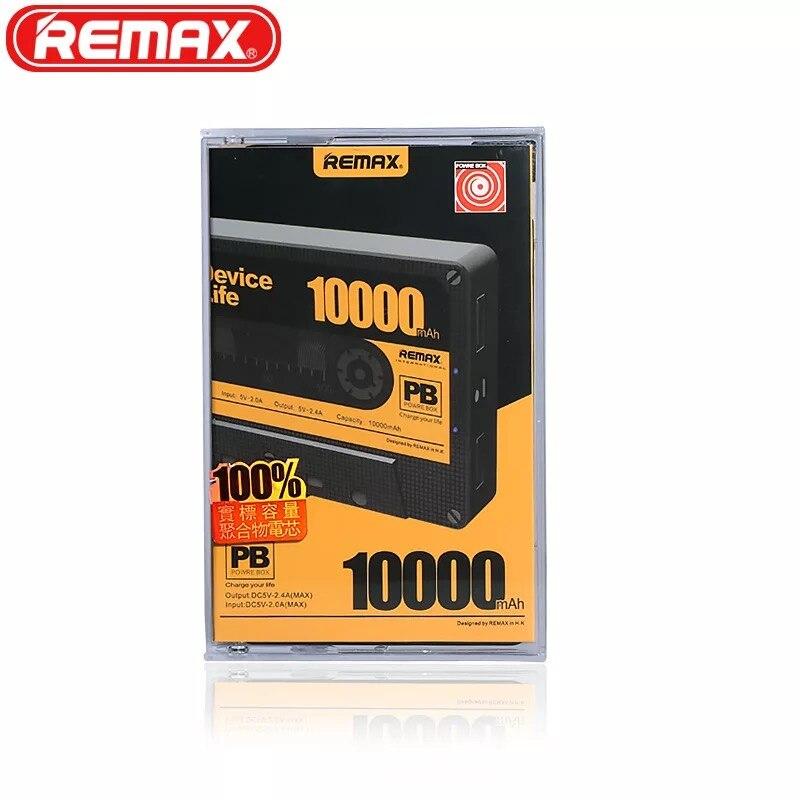 D'origine Remax RP-T10 Mignon Mini Bande Portable Puissance banque Double USB Chargeur De Secours Externe Pour Samsung Note 8 Jaune 10000 mah