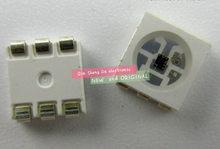 SK9822 (Similar APA102) LEDs Chips IC SMD 5050 RGB Para Faixa Tela DC5V, com DADOS e RELÓGIO separadamente novo