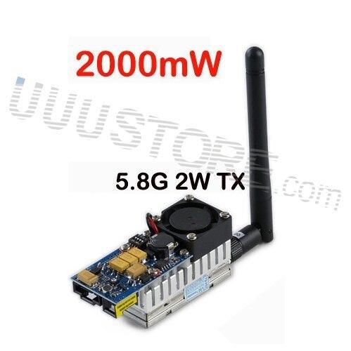 Boscam 5.8 ГГц 2000 МВт 5.8 г 2 Вт 8 канала беспроводной аудио передатчик отправитель FPV джи фантом Gopro hero4 SJ4000
