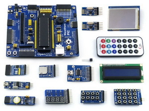 Open18F4520 Package B # PIC18F4520-I/P PIC18F PIC18F4520 PIC 8-bit RISC Development Evaluation Board +14 Accessory  Modules pic development board for pic18f serie pic18f4520 pic 8 bit risc evaluation board 11 accessory modules open18f4520 package a