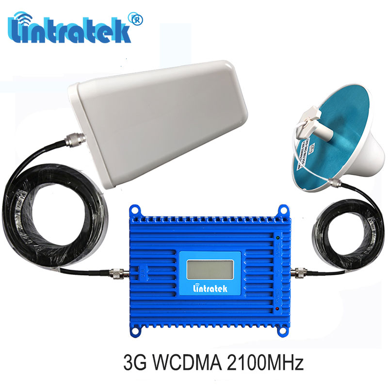 Lintratek Powerful 3G WCDMA 2100MHz 70dB Gain Mobile Signal Booster UMTS 2100 Cellular Network Repeater Amplifier Set S6-2Lintratek Powerful 3G WCDMA 2100MHz 70dB Gain Mobile Signal Booster UMTS 2100 Cellular Network Repeater Amplifier Set S6-2