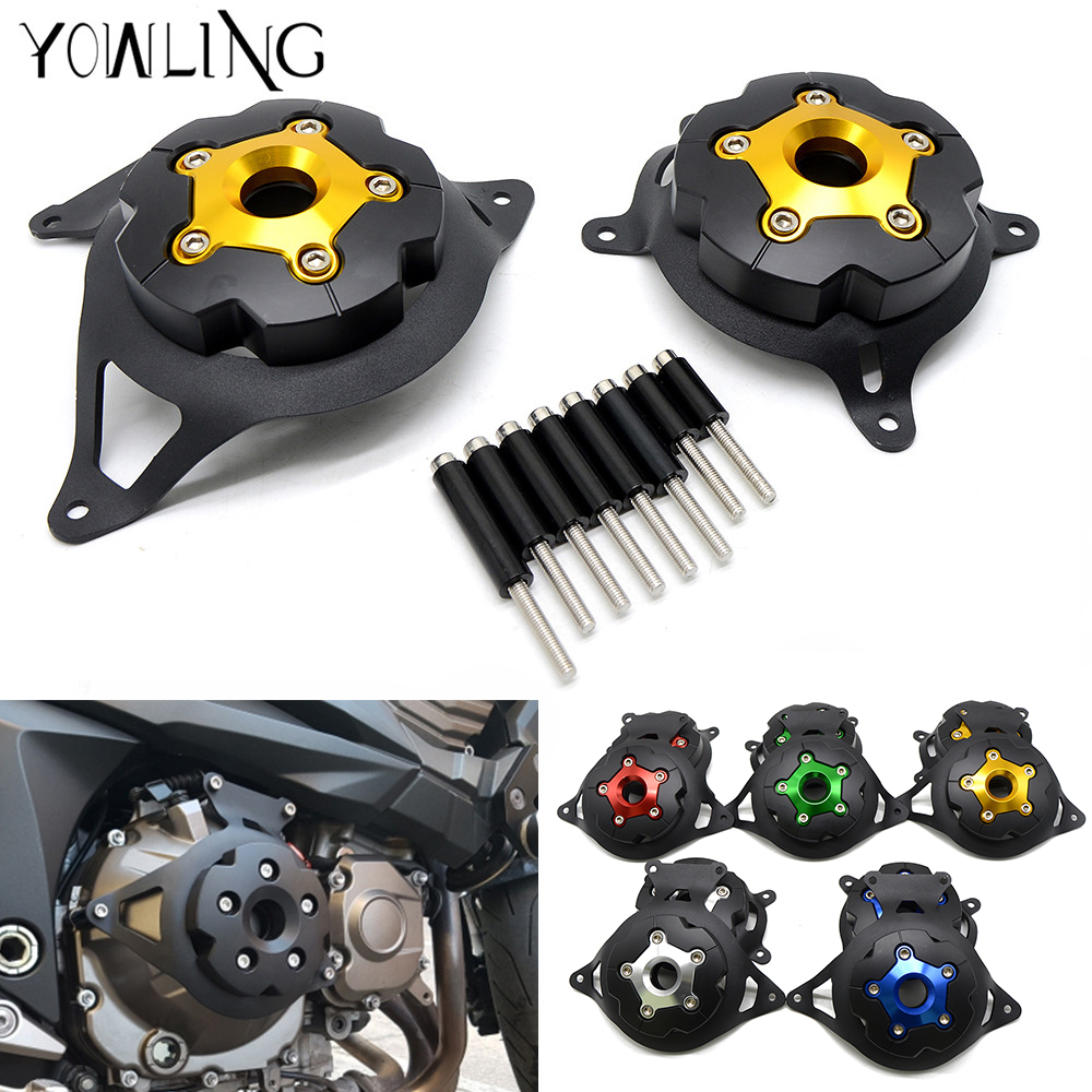 Motorcycle Engine Stator Cover Engine Guard Protection Side Shield Protector For Kawasaki Z750 Z800 2013 - 2017 Z 750 800 13-17 motorcycle cnc 6 hole beveled engine side guard derby cover