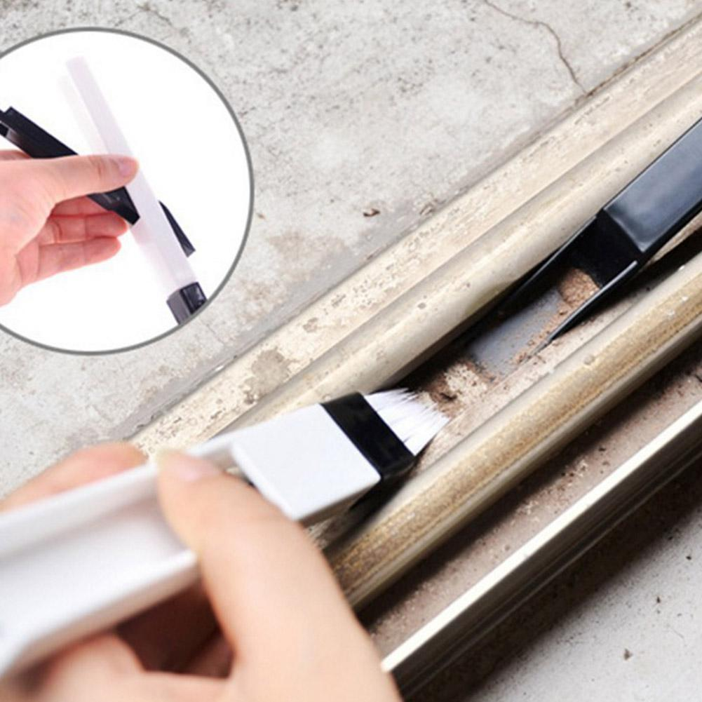 VORCOOL Groove Brush Auto Car Door Window Gap Cleaning Tools Accessories White