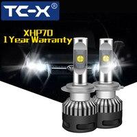TC X XHP70 H7 H3 H4 LED Diode Lamps D2S H1 H11 Led headlight For Auto Moto HB3 4 5 D4S 9005 9006 leds light bulb 9012 Error free