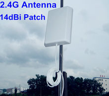 OSHINVOY 2.4G panel antenna outdoor wifi patch antenna in wlan system 2.4G patch antenna 14dBi SMA L brackets(China)