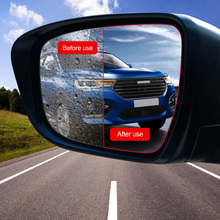 2 in 1 Car Sticker Waterproof Anti Fog Anti-Fog Rearview Mirror Protect Film Window Clear Rainproof Accessories