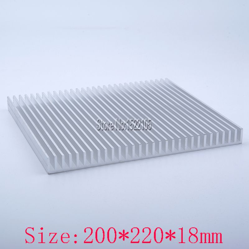 Heatsink 200x220x18mm Aluminum heatsink heat sink high power radiator for cooling 1 pcs aluminum radiator heat sink heatsink 60mm x 60mm x 10mm black