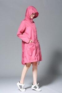 Image 3 - Freesmily Poncho de lluvia para mujer, impermeable, con capucha, mangas y bolsillo