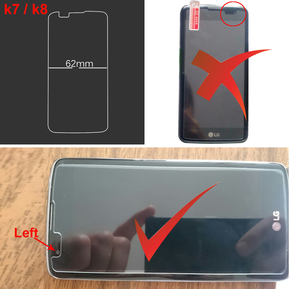 2PCS Για LG K4 K7 K8 K10 Προστατευτικό οθόνης - Ανταλλακτικά και αξεσουάρ κινητών τηλεφώνων - Φωτογραφία 5