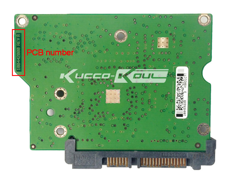 hard drive parts PCB logic board printed circuit board 100442000 for Seagate 3.5 SATA hdd data recovery hard drive repair