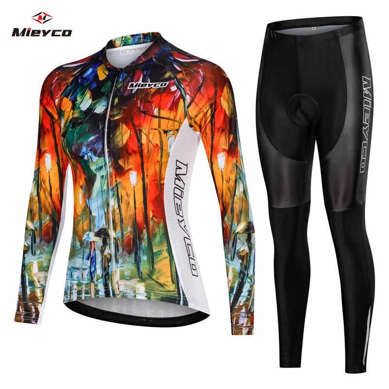 Damska jazda na rowerze zestawy Jersey odzież sportowa spodnie rowerowe koszule z długim rękawem Ropa Ciclismo MTB odzież rowerowa na szelkach krótkie topy kurtka