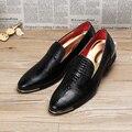 Luxury Brand Мужчины Обувь мужская Квартиры Обувь Патент Мужская Кожаная Обувь Повседневная Обувь Оксфорд Для Мужчин Новая Мода D25