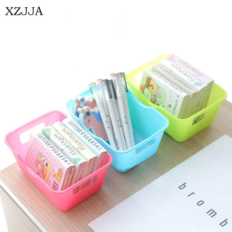 XZJJA 2PCS Rectangular Desktop Storage Box Multi-Functional Office Stationery Box Home Kitchen Bathroom Small Objects Organizer