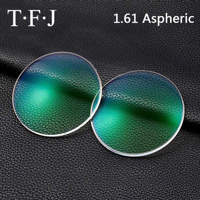 TFJ 1.61 indice asphérique Blu Ray UV400 pour ordinateur utilisation Anti-rayonnement résine optique lentilles de Prescription myopie