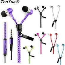 TenYua Zipper 3.5mm In-Ear Earbuds Earphone Headset Headphone For iPho