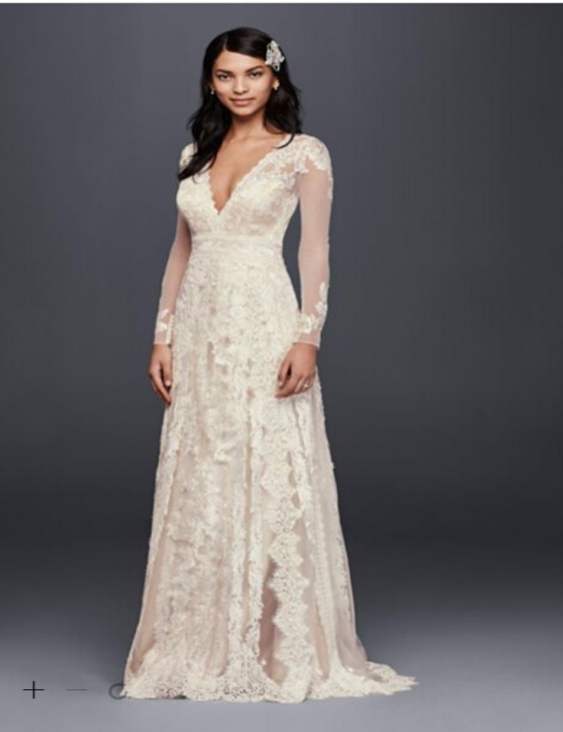 Custom made 2016 new free shipping linear lace wedding for How to get a free wedding dress