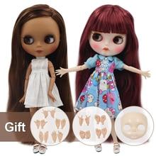 Dbs bjd氷ブライス人形ヌード工場通常と共同体ファッションドール手セットabと前面プレート女の子人形特別価格