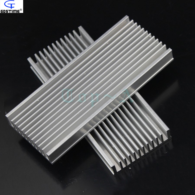 Gdstime 5pcs/lot 120x50x12mm Aluminum Heatsink Radiator Router Heat Sink Chip Electronic Products Cooling Fan synthetic graphite cooling film paste 300mm 300mm 0 025mm high thermal conductivity heat sink flat cpu phone led memory router