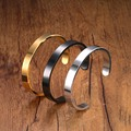 Luxury Fashion Women And Men Stainless Steel Cuff Bangle Titanium Jewelry Simple Style Bangle Bracelet