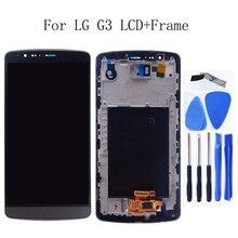 Für LG G3 LCD DISPLAY IPS mit rahmen touch screen digitizer komponente ersatz für LG G3 D850 D851 D855 telefon werkzeuge
