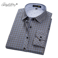 DAVYDAISY New Arrival Men Shirt Male Casual Shirt Men's Long Sleeved Striped Plaid Shirts Business Dress Shirts S-4XL DS179 Dress Shirts