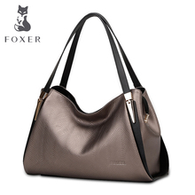 FOXER Brand Women Casual Leather Shoulder Bags Women's handbag Lady Handbags Female Bag & Tote