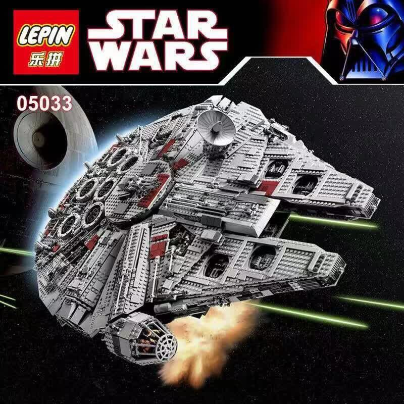 LEPIN 05033 Star Wars Millennium Falcon limited edition Model Building Kit Millenniums Blocks Compatible Legoed 10179 lepin 22001 pirate ship imperial warships model building block briks toys gift 1717pcs compatible legoed 10210