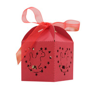 50Pcs Sweet Event & Party Married Wedding Favor Box Gift Boxes Candy Paper Party Box Case wholease A10