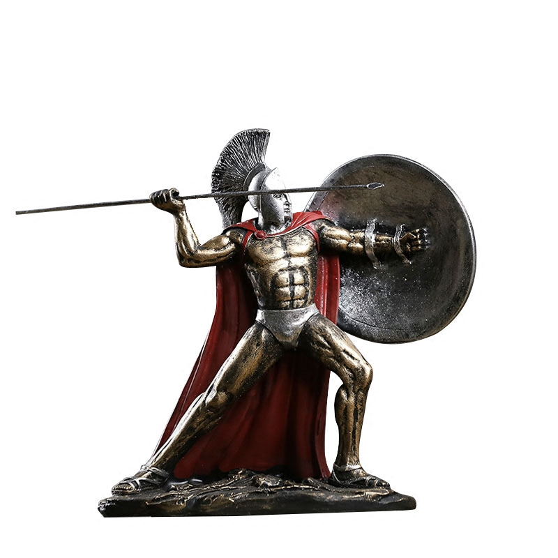Ancient Rome Ornament Spartan Character Model Resin Model of Hero Sparta Living Room Spartan Warrior Statue Figure decorate Gift